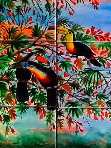 mural de azulejos personalizado